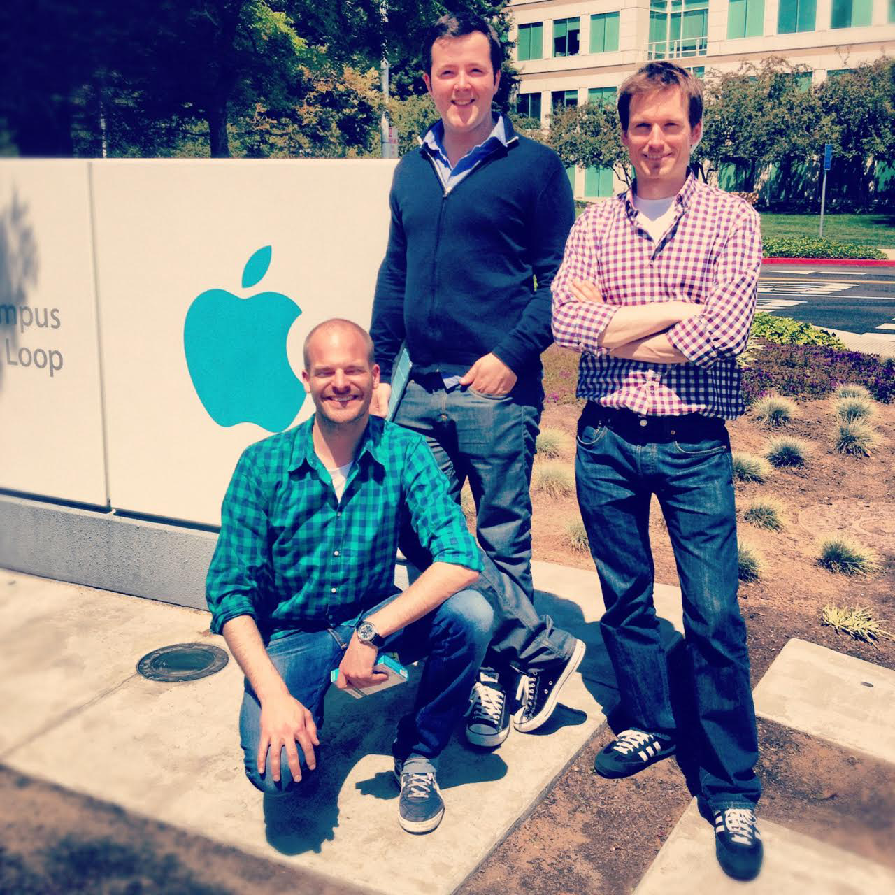 Showpad Founders at Apple Campus