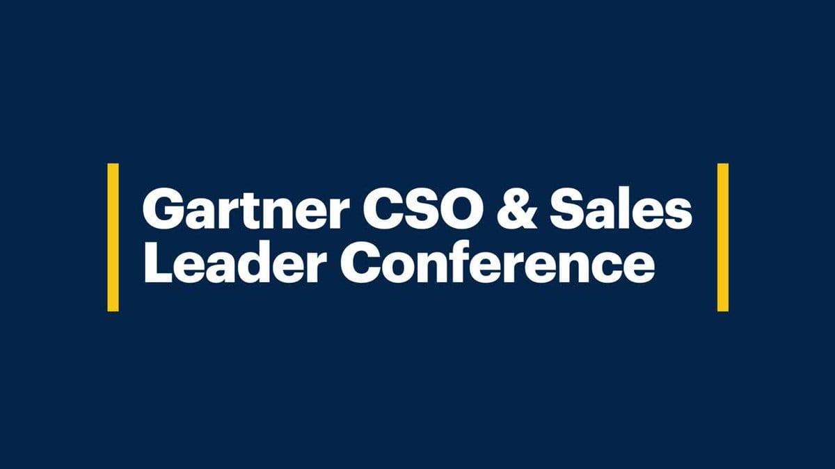 Gartner CSO & Sales Leader Conference